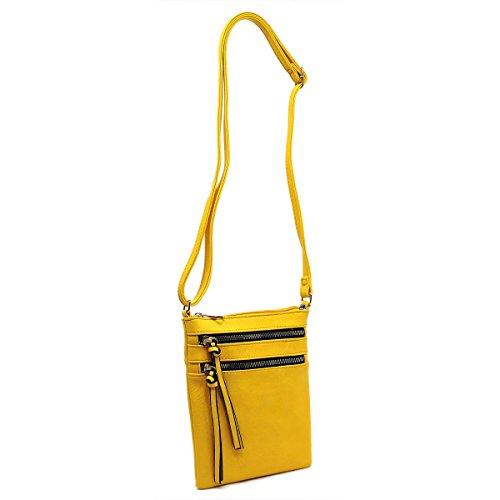 Multi Yellow Bag Pocket Functional Americana Crossbody OYgSSq