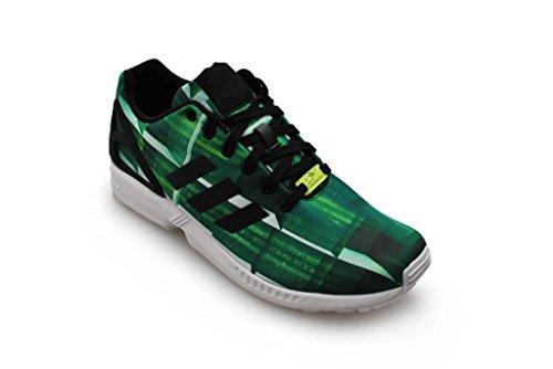 Homens Verde Adidas Preto Zx Fluxo Branco nRwFqRY8