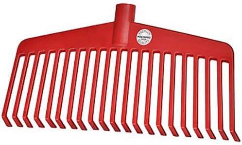 40 x 25 x 15 cm Rot Idealspaten 66520540 Nylon-Laubbesen Profi aus Kunststoff 38cm