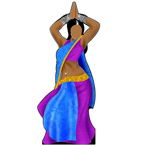 6 ft. India Belly Dancer Standee