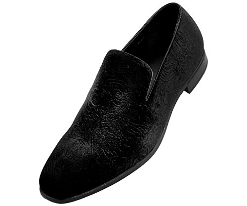 Bolano Mens Velvet Smoking Slippers in Paisley and Embossed Styles Jay/Saint/Prince Black/Paisley-velvet outlet sale online clearance real discount amazing price low price fee shipping online Ibw06glF