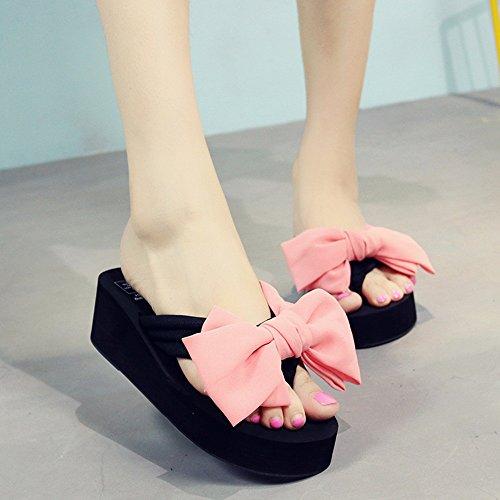 F Moda 33 dimensioni Estiva Pantofole Spessore ZHANGRONG E Femminile Di Punta Colore vxFwqIP