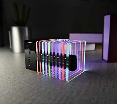 Persevere Wireless Bluetooth Speaker, 7 Color LED Rainbow Li