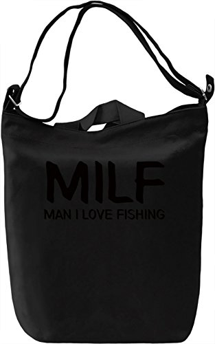 I love fishing Borsa Giornaliera Canvas Canvas Day Bag| 100% Premium Cotton Canvas| DTG Printing|
