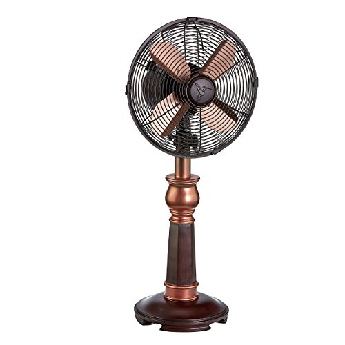 DecoBREEZE Oscillating Table Fan 3 Speed Air Circulator Fan, 10 In, Bently