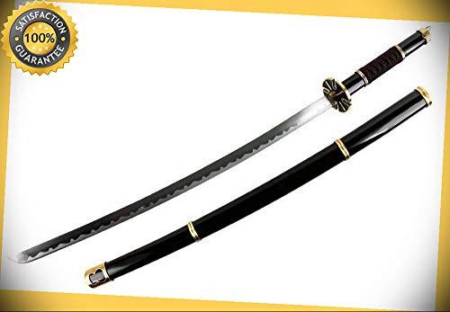 LARGE 40'' BLACK ONE PIECE RORONOA ZORO YUBASHIRI SWORD ANIME COSPLAY COSTUME perfect for cosplay outdoor -