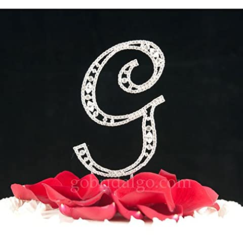 Swarovski Crystal Monogram Cake Topper Vintage Style - Letter G by outlet - Swarovski Crystal Wedding Cake