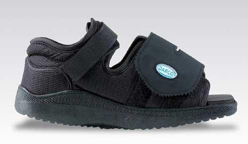 Darco Med-Surg Shoe Black Square-Toe Pediatric by AmericanMedMart.com
