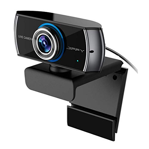 HD Streaming Webcam 1080P USB Web Camera with Microphone Video Calling and Recording Web Cam for PC Macbook Laptops and Desktop Computer TV Box Works for XBOX ONE Compatible Windows 10 Skype by Jiffy