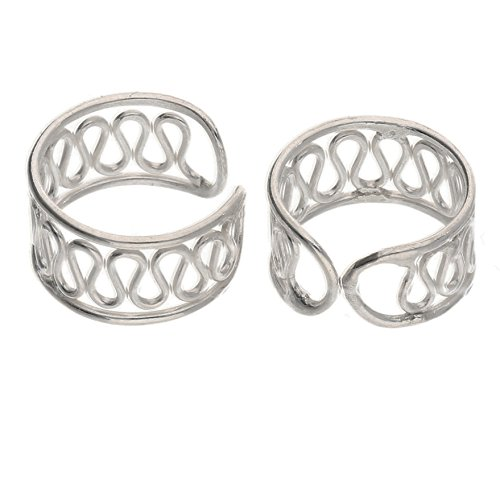 Sterling Silver Coiled Wirework Ear Cuff Pair ()