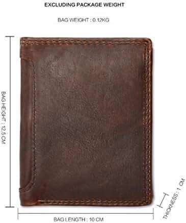 Morrivoe Men's Leather Wallet Bifold Card Holder ID Blocking Wallets