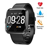 beitony Fitness Tracker HR, Smart Bracele Smart Watch Waterproof Pedometer Activity Tracker with Heart Rate Monitor, Blood Pressure Blood Oxygen Monitor Bluetooth 4.0 for iOS Android