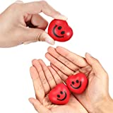Red Heart Smile Funny Face Stress Balls, Mini