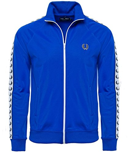 Fred Perry Men's Tricot Track Jacket, Regal B, Large