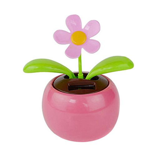 Iuhan Flower Solar Powered Dancing Swinging Animated Dancer Toy Car Decoration New ()