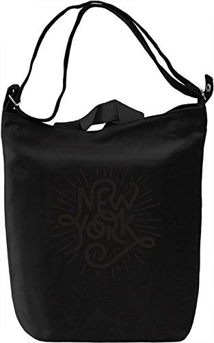 New York Borsa Giornaliera Canvas Canvas Day Bag| 100% Premium Cotton Canvas| DTG Printing|