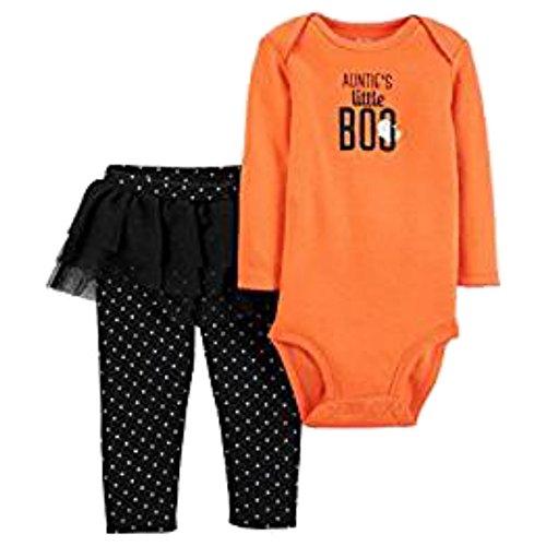 Carter's Baby Girls Auntie's Little Boo Halloween Bodysuit & Tutu Pant Set 6 Months