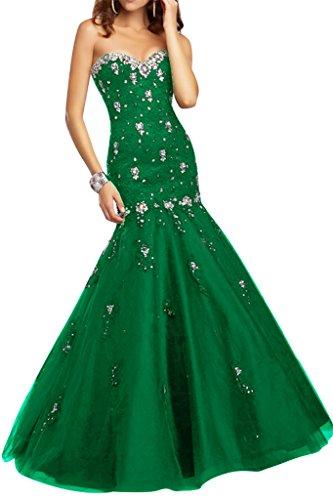 Damen Mermaid Abendkleid Ivydressing Festkleid Grün Spitze Ausschnitt Promkleid Herz Steine Sexy amp;Tuell Og4dqwS