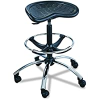Safco Products 6660BL SitStar Stool Chrome Base use SitStar Back (sold separately), Black