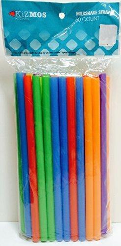 Kizmos 50 Count Assorted Milkshake Straws (2 Pack) by Kizmos