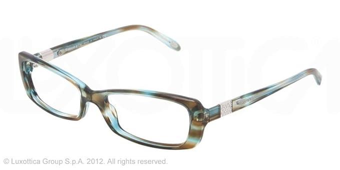 Amazon.com: Tiffany anteojos TF 2070B 8124 Ocean turquesa 53 ...