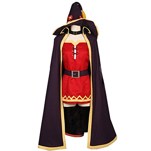 MYYH Anime Megumin Cosplay Costume Cloak Cape with Hat -