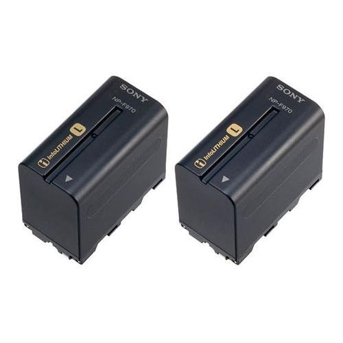 Sony NP-F970 L-Series Info-Lithium Camcorder Battery (6600mAh) 2-Pack #2NPF970/B by Sony