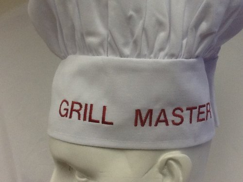 GRILL MASTER.....CHEFSKIN PERSONALIZED BLACK CHEF HAT The BEST Gift