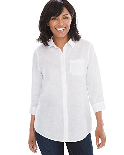6762159bc5 Chico s Women s No-Iron Linen Shirt From Chico s