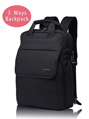 Kuprine 14 inch Lightweight Slim Business Laptop Backpack for Women Men's Work Laptop Convertible Messenger Bag Water Resistant College Students Notebook Computer ()