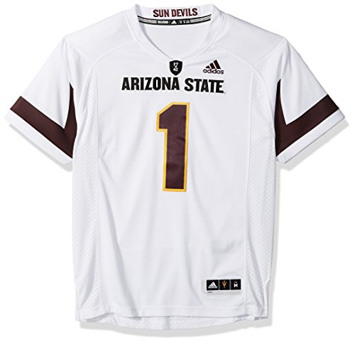 NCAA Arizona State Sun Devils Adult Men Premier Football Jersey, Medium, White by adidas
