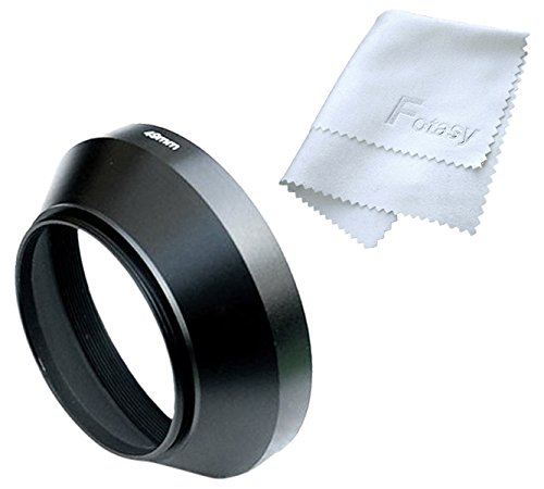 Fotasy LW405 40.5mm Wide Angle Metal Lens Hood Shade and Lens Cloth for Leica, Contax Zeiss, Voigtlander and Other Lenses