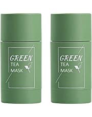 Stick of Green Tea Mask 2-Pack Natural Green Tea Purifying Clay Stick For Face Moisturizes Oil Control,Deep Cleanse Pore, Soften Dead Cuticle Cells Improves Skin,for Suitable For All Skin Types For Men Women By Dongyu