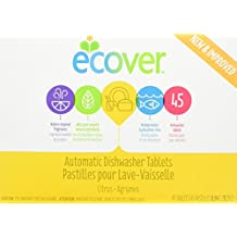 Ecover Naturally Derived Automatic Dishwasher Tablets, Citrus, 45 Count, 31.7 Ounce