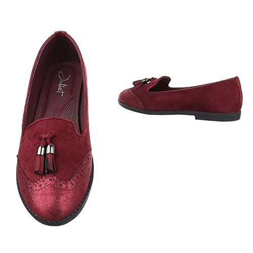 Ital-Design Women's Slippers Wine Red ShiYWbuS