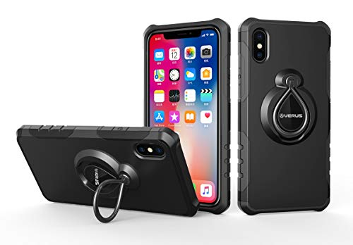 4015 Compatible Cover - AICEDA iPhone Xr Case, BackCase Defender Impact Rugged Case with BackCase Protective Case Cover Compatible with iPhone Xr (Black)