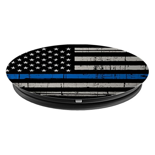 Mobile American Flag Blue Line Police Pride - PopSockets Grip and Stand for Phones and Tablets by 245 Mobile Co. (Image #1)