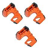 Wedge-It - The Ultimate Door Stop - Orange (3 Pack)