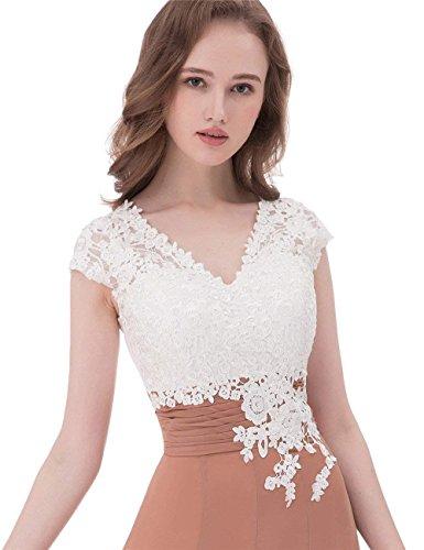 Wadenlang Grau Erosebridal Brautjungfernkleider A Mutter Chiffon Linie Hochzeit für Kleid Abendkleider ZpFdcqaHpw