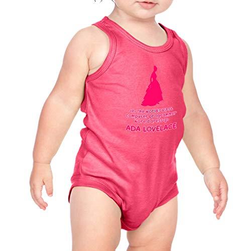 (Cute Rascals Ada Lovelace - The World's First Computer Programmer Wore A Dress Cotton Tank Scoop Neck Boys-Girls Infant Bodysuit One Piece - Hot Pink, 18 Months)