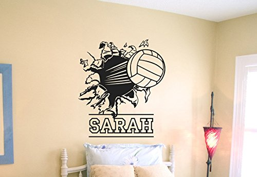 Wall Decal Vinyl Sticker Decals Art Decor Design Volleyball Ball Player  Sport Game Girl Team Beach