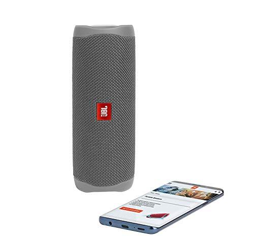 JBL Flip 5 Waterproof Portable Wireless Bluetooth Speaker Bundle - (Pair) Gray