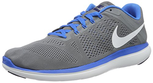 Nike Mens Flex 2016 Rn Scarpa Da Corsa Cool Grey / White-leale Blue