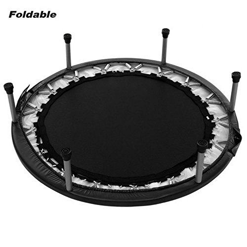 Keland Foldable Fitness Trampoline, Mini Rebounder Trampoline With Safety Pad, Indoor And Outdoor Folding Trampoline(38inch/ Max Load 220lbs)