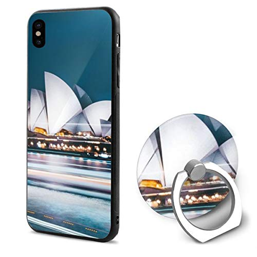 IPhone X Case Australian City Sydney With Ring Holder 360 Degree Rotating Stand Grip Mounts Slim Soft Protective Cover -