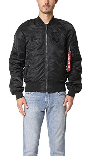 Price comparison product image Alpha Industries Men's MA-1 Souvenir Shinto Jacket,  Black,  X-Large