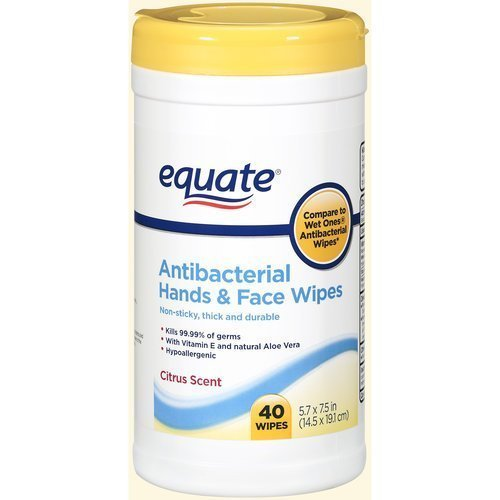 Equate Antibacterial Hands and Face Wipes Citrus 40ct Compar