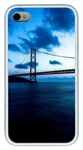 Akashi Kaikyo Bridge Custom Rubber(TPU) white Case for iphone 4 case or iphone 4s case by Cases & Mouse Pads 220mm*180mm*3mm