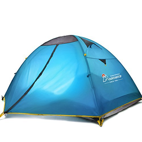 Mountaintop Waterproof 2 Person Tent/Backpacking Tents for Camping/3 Season Camping Tent with Carrying Bag