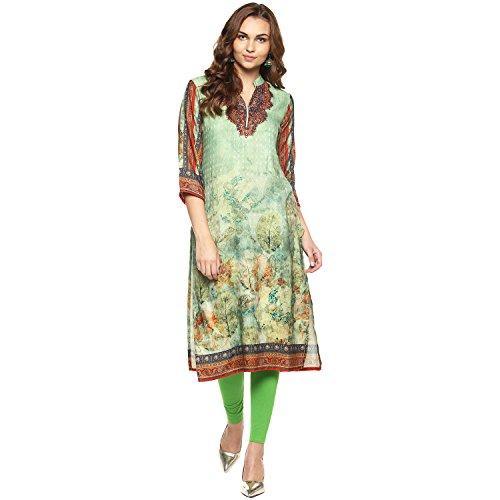 Lagi Kurtis Ethnic Women Kurta Kurti Tunic Printed Top Dress Casual Wear New Launch (Green) (Kurta Tunic Dress Top)